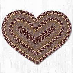 Burgundy, Gray, Mustard Heart Placemat