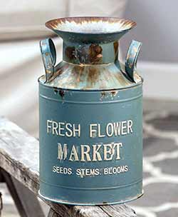 Fresh Flower Market Milk Can