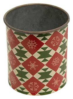 Vintage Christmas Metal Can