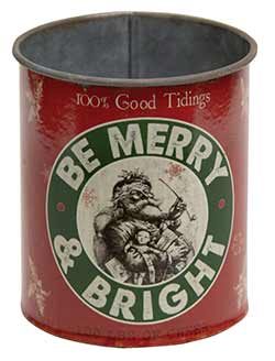 Be Merry and Bright Metal Can