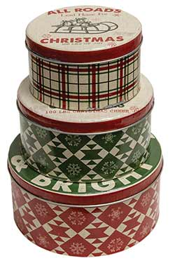 Merry & Bright Nesting Tin Boxes