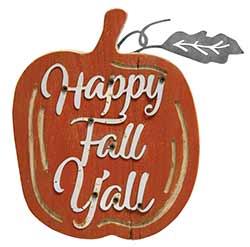 Happy Fall Y'all Pumpkin Sign
