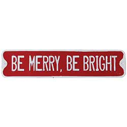 Be Merry Be Bright Enamel Sign