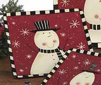 Certified International Christmas Snowman Dinnerware - Dinner Plate