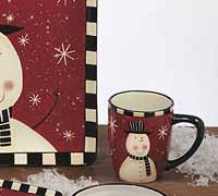 Certified International Christmas Snowman Dinnerware - Mug