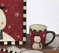 Certified International Christmas Snowman Dinnerware - Mug