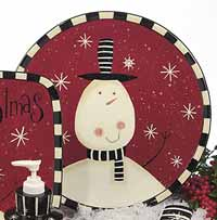 Certified International Christmas Snowman Dinnerware - Round Platter
