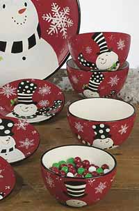Certified International Snowy Friends Dinnerware - Ice Cream Bowl