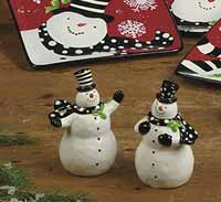 Certified International Snowy Friends Dinnerware - Salt and Pepper Shaker Set