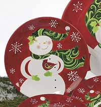 Winter Fun Dinnerware - Snowman Dinner Plate