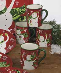 Certified International Winter Fun Dinnerware - Snowman Mug