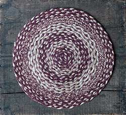 Burgundy and Tan Jute Tablemat