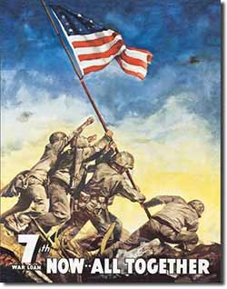 Iwojima War Bonds Tin Sign