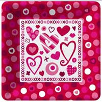Hugs & Kisses Paper Salad / Dessert Plates