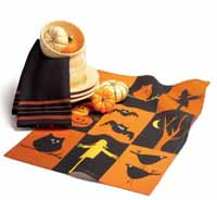 Halloween Grid Dishtowel