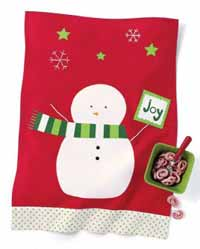 Snowman Vintage Dishtowel