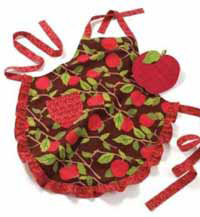 Apple Orchard Apron or Oven Mitt