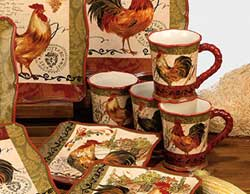 Tuscan Rooster Mugs (Set of 4)