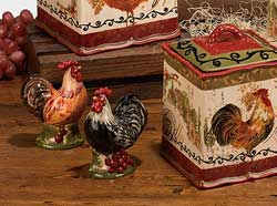 Tuscan Rooster Salt/Pepper Shaker Set