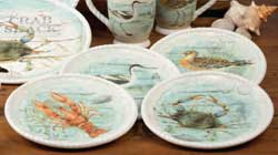 Beach Cottage Dessert Plates (Set of 4)
