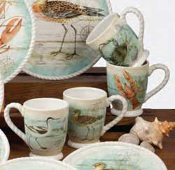 Beach Cottage Mugs (Set of 4)