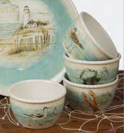 Beach Cottage Ice Cream Bowl