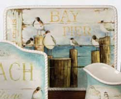 Beach Cottage Rectangle Platter