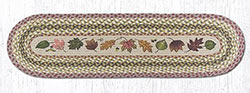 Autumn Leaves Braided Jute Table Runner - 48 inch