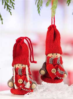 Knit Boy or Girl Gnome Ornament