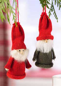 Knit Santa Gnome Ornament