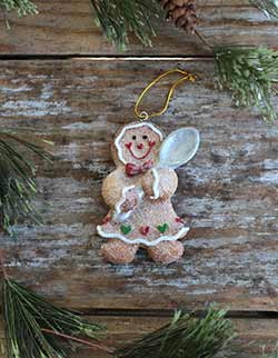 Glittered Gingerbread Ornament with Spoon