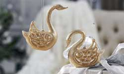 Glittered Swan Ornament