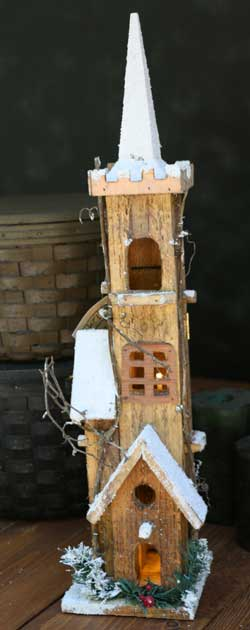 Snowysteeple Lighted Bird House