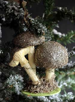 Three Mushroom Ornament