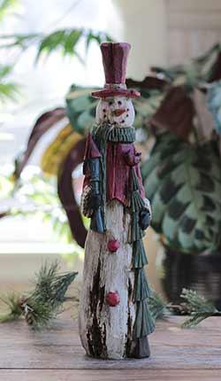 Woodland Snowman Figurine
