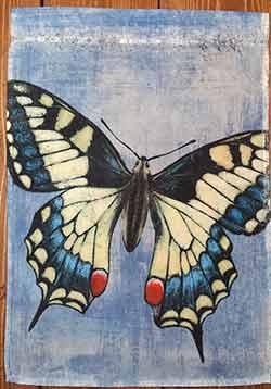 Butterfly Blue Garden Flag