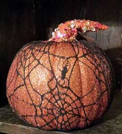 Hanna's Handiworks Mesh Pumpkin - Orange and Black