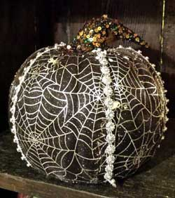 Mesh Pumpkin - Black and Silver