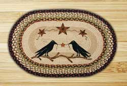 Crow & Barn Star Braided Jute Rug