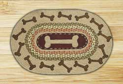 Dog Bones Braided Jute Rug