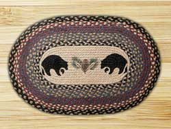 Black Bears Braided Jute Rug