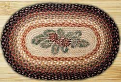 Pinecone Red Berry Braided Jute Rug