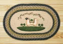 Sheep & Shamrock Braided Jute Rug