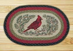 Cardinal Oval Patch Braided Rug