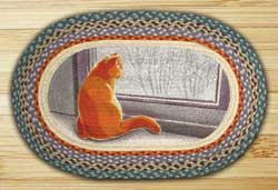 Window Cat Braided Jute Rug