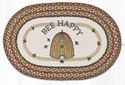 Bee Happy 20 x 30 inch Braided Rug