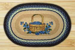 Blueberry Basket Oval Patch Braided Rug