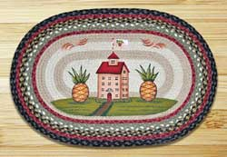 Pineapple Saltbox Braided Jute Rug