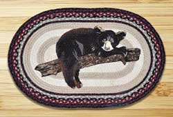 Earth Rugs Baby Bear Oval Patch Braided Rug