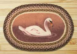 Swan Oval Patch Rug